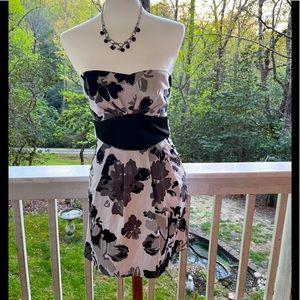 Trixxi Floral Strapless Dress 3 jr. FREE SHIP